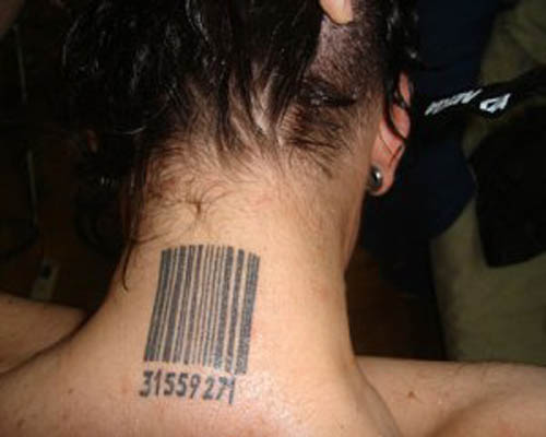 Zip code Barcode Tattoos