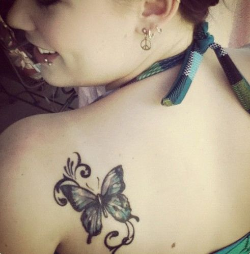 artistic butterfly tattoo designs