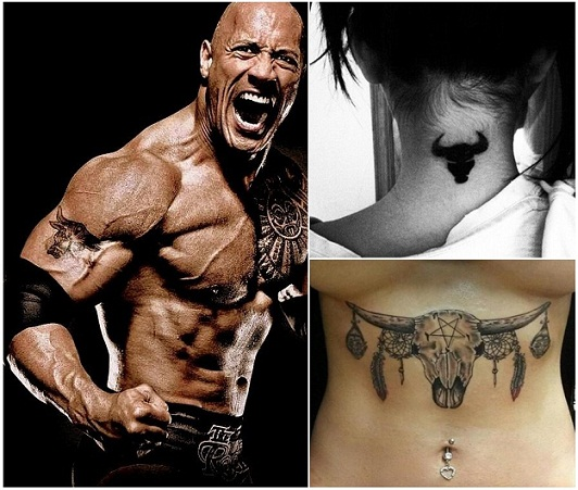 17 best bull tattoo designs and their meanings styles at life. Black Bedroom Furniture Sets. Home Design Ideas