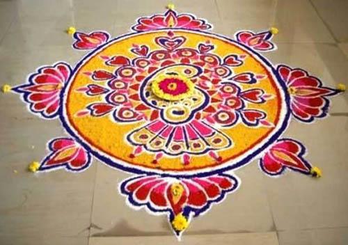 Best free hand rangoli designs 3