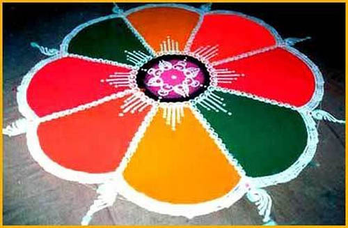 Best free hand rangoli designs 9
