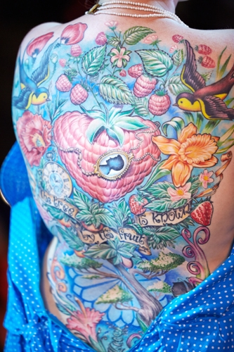 floral tattoos for the back