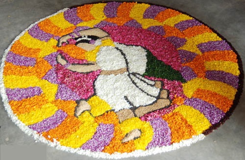 Best free hand rangoli designs 4
