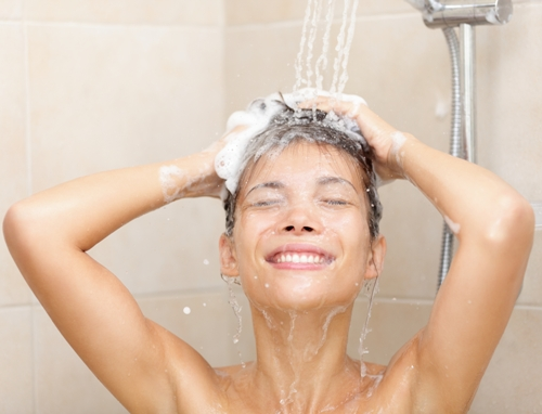 no to hot water for hair growth