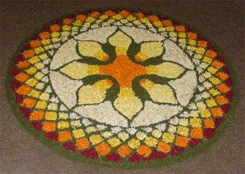 Beautiful Flower Rangoli Designs