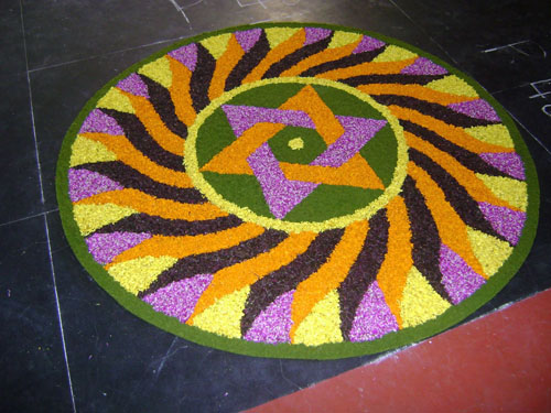 Attractive Flower Rangoli Design Images