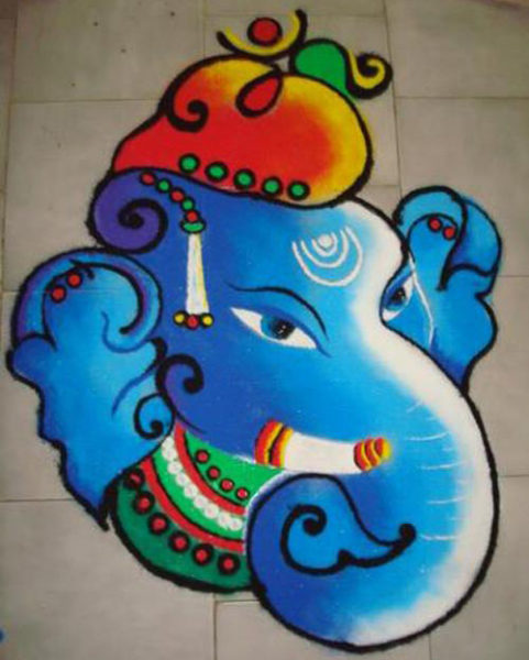 15+ Best Ganesh Rangoli Designs | Styles At Life
