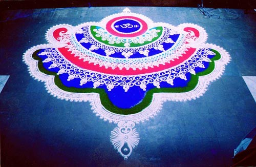 Easy ' Om ' Rangoli Designs