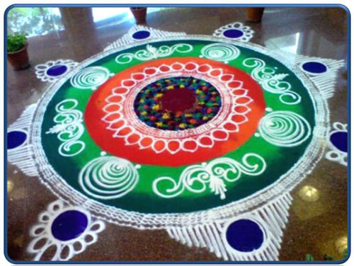 Border Rangoli Designs With Different Colors
