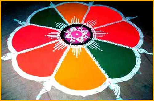 Rangoli Patterns With Different Shades