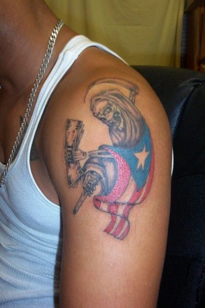 15 front and back shoulder tattoo designs for men women for Funny tattoos ideas