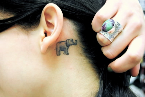 50 meaningful and cute small tattoo designs for men women for Small behind the ear tattoos for girls