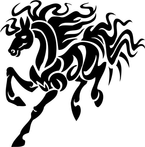 15 simple traditional horse tattoo designs with meanings. Black Bedroom Furniture Sets. Home Design Ideas
