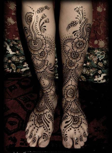 feet mehndi designs