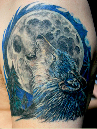 Animal Moon Tattoo