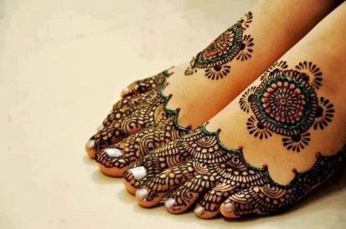 foot mehandi designs