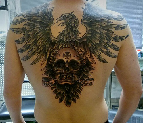 15 traditional eagle tattoo designs and meanings for Skull and eagle tattoo