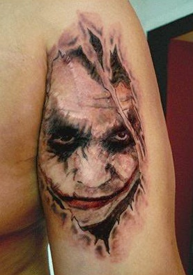25fca7f0f946e 15 Best Joker Tattoo Designs And Meanings | Styles At Life