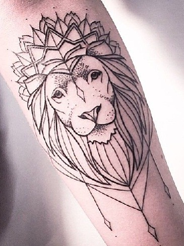 3176a05ca395c Lion With Flowers Tattoo Meaning - Best Image and Description About Lion