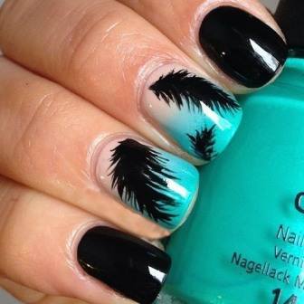 9 best feather nail art designs styles at life this prinsesfo Images
