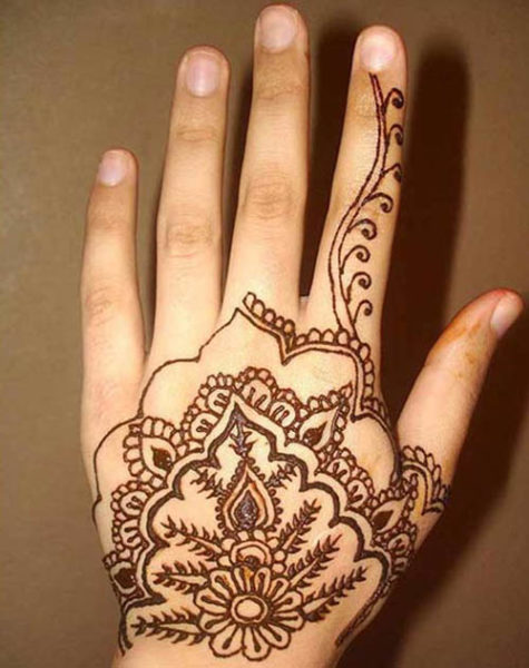 back side mehndi design