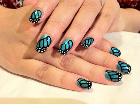 9 best shellac nail art designs styles at life butterfly shellac nail art shellac prinsesfo Image collections