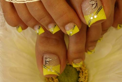 erfly toe nail art make