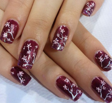 9 best cherry blossom nail art designs styles at life a prinsesfo Gallery