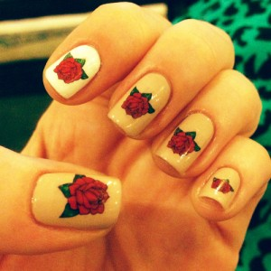 9 simple and easy rose nail art designs with images styles at life classy rose nail art looking prinsesfo Gallery