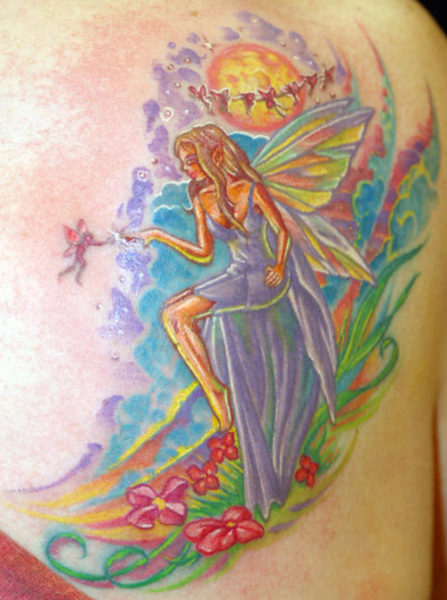 Colorful Fairy Tattoos