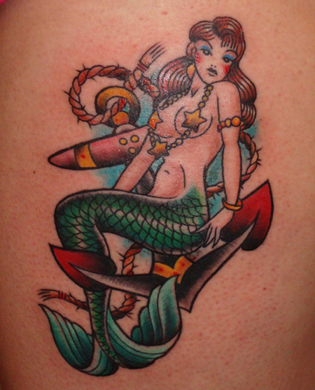 Colorful Mermaid Tattoo