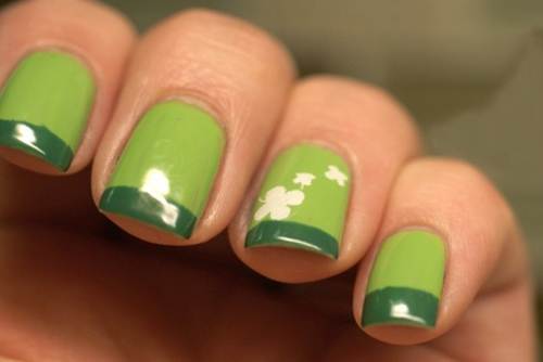 9 best shamrock nail art designs styles at life shamrock nail art prinsesfo Gallery