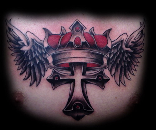 Crown with a cross
