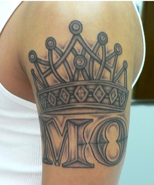 Name With Crown Tattoo Designs 15 Best Crown Tattoo D...
