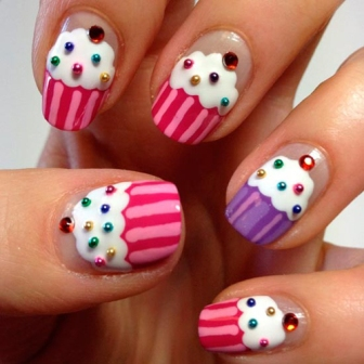 cup cake nail designs
