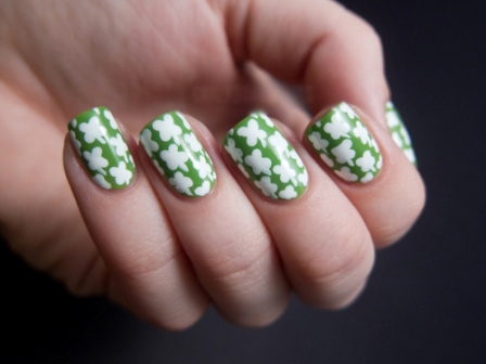 Cute Shamrock Nail Art: This ... - 9 Best Shamrock Nail Art Designs Styles At Life
