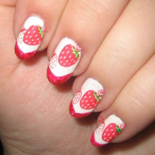 9 cute strawberry nail art designs styles at life this prinsesfo Image collections