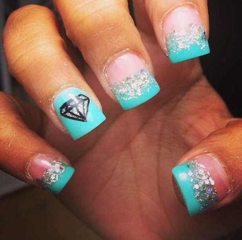 Diamonds Nail Art Design Ideas: 100 Beautiful And Best Nail Art Designs For Beginners At Home