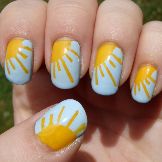 100 beautiful and best nail art designs for beginners at home easy summer nail art designs 1 prinsesfo Gallery