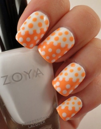 100 beautiful and best nail art designs for beginners at home easy puzzle nail art designs orange prinsesfo Image collections