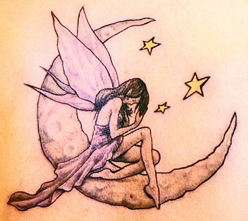 Fairy Moon Tattoo
