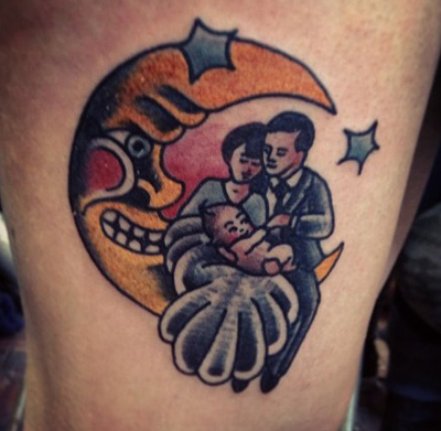 Family Moon Tattoo
