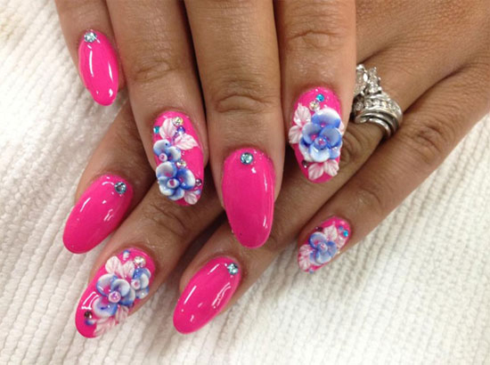Intricate Shellac Nail Design