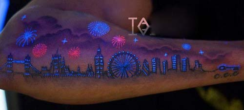 Fluorescent Tattoo Design