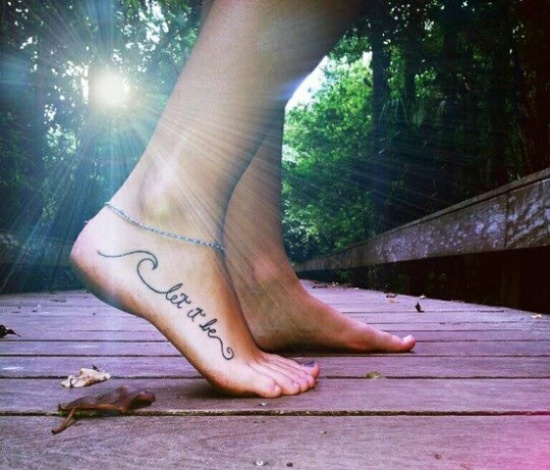 small tattoos for women on feet