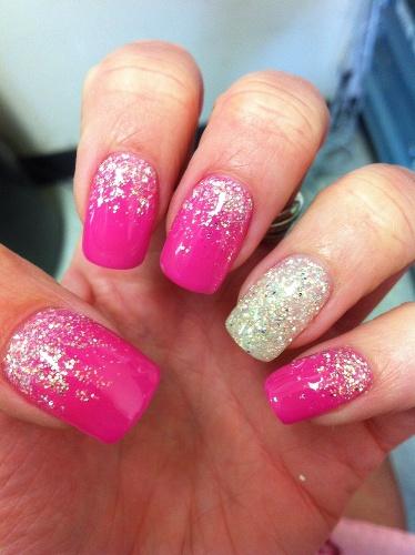 Glitter Nail Design