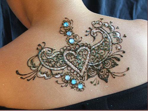 Glittery ink tattoo