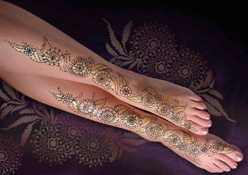 Mehndi On Leg : Best leg mehndi designs with pictures styles at life