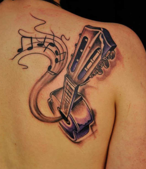 Guitar Musical Tattoo