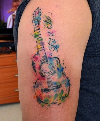 15 Best Guitar Tattoo Designs With Meanings For Girls Guys